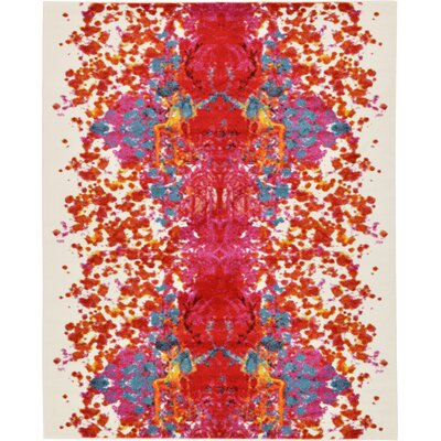 Shuman Red Area Rug Rug Size: Rectangle 5 x 8