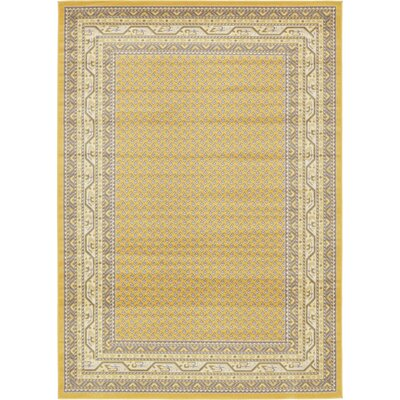 Toni Yellow Area Rug Rug Size: Rectangle 7 x 10