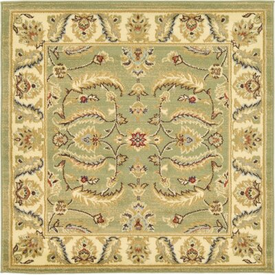 Fairmount Green Area Rug Rug Size: Square 4