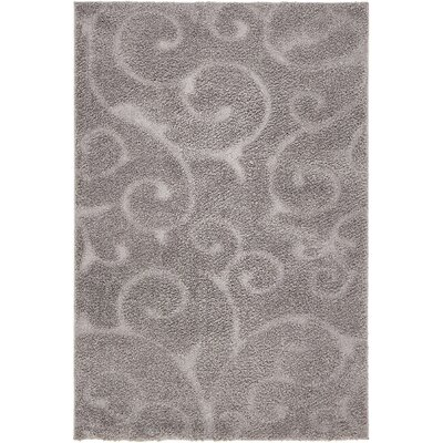 Scheffer Floral Dark Gray Area Rug Rug Size: Rectangle 9 x 12