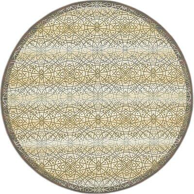 Jamie Traditional Beige Indoor/Outdoor Area Rug Rug Size: Round 8
