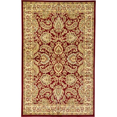 Fairmount Red Area Rug Rug Size: 5 x 8