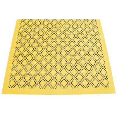 Wanamaker Yellow Area Rug Rug Size: Rectangle 9 x 12