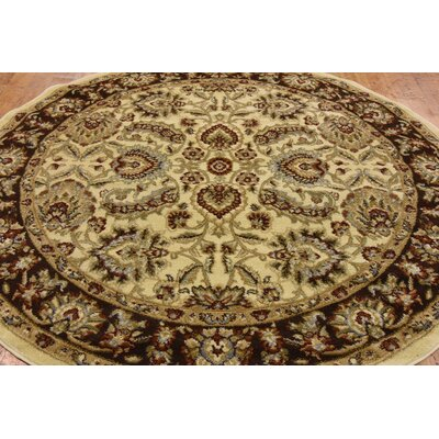Fairmount Traditional Cream Oriental Area Rug Rug Size: Rectangle 5 x 8