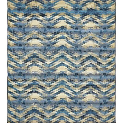 Avila Blue Abstract Indoor/Outdoor Area Rug Rug Size: Rectangle 10 x 12
