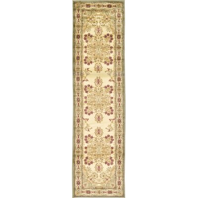 Fairmount Light Green Oriental Area Rug Rug Size: Runner 27 x 10