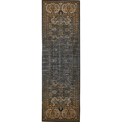 Neuilly Black/Ivory Area Rug Rug Size: Runner 3 x 91