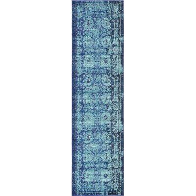 Charleena Blue Area Rug Rug Size: Runner 27 x 10