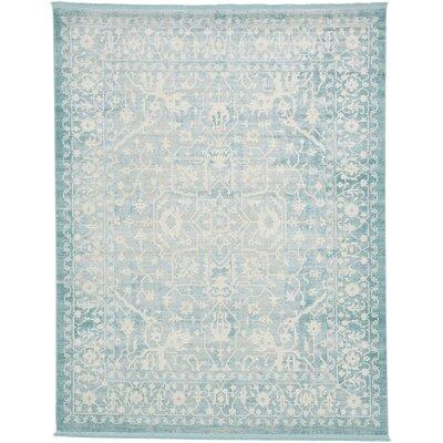 Bryant Oriental Light Blue Area Rug Rug Size: 8 x 10