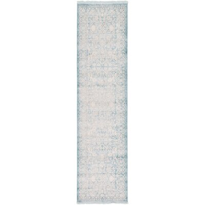 Bryant Oriental Light Blue Area Rug Rug Size: Runner 27 x 10