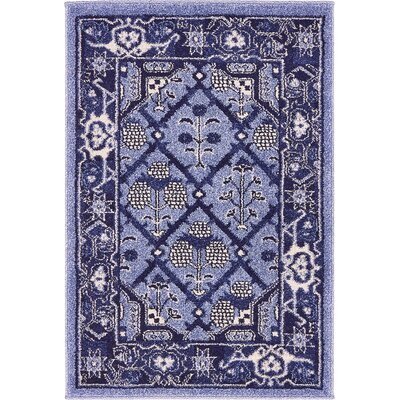 Katiranoma Blue Area Rug Rug Size: 2 x 3