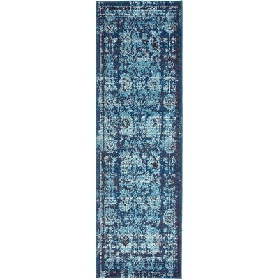 Barret Blue Area Rug Rug Size: Runner 2 x 7