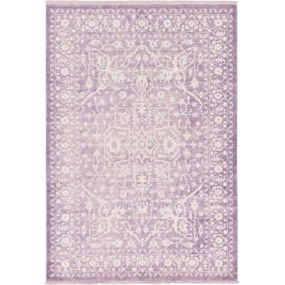 Bryant Purple /Ivory Area Rug Rug Size: Rectangle 7 x 10