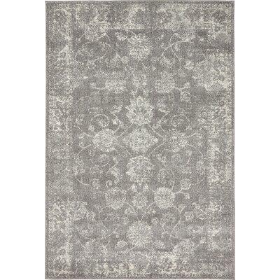 Akerlund Dark Gray Area Rug Rug Size: Rectangle 4 x 6