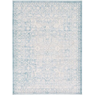 Bryant Oriental Light Blue Area Rug Rug Size: 10 x 13