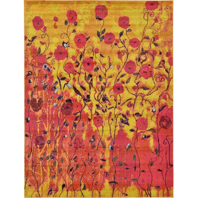 Roshan Orange Area Rug Rug Size: 9 x 12