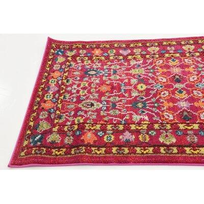Iris Pink Area Rug Rug Size: 5 x 8
