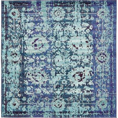 Yannis Blue Area Rug Rug Size: 8 x 8