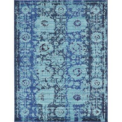 Yannis Blue Area Rug Rug Size: 9 x 12