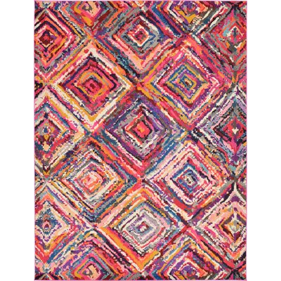 Killington Pink Area Rug Rug Size: 9 x 12