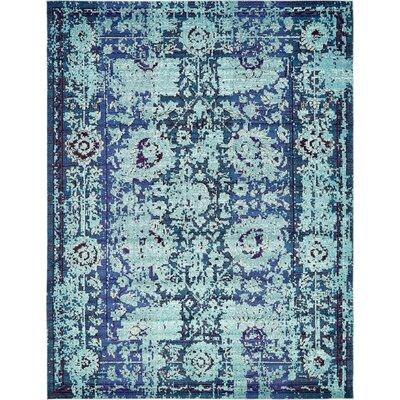Yannis Blue Area Rug Rug Size: 10 x 13