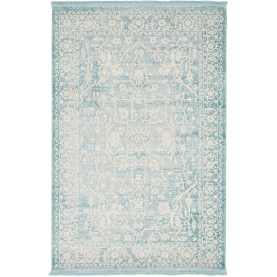 Bryant Oriental Light Blue Area Rug Rug Size: 4 x 6