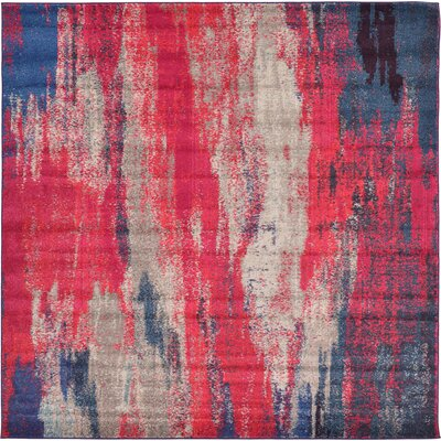 Killington Red Area Rug Rug Size: Square 8