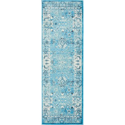 Neuilly Blue Area Rug Rug Size: Runner 3 x 91