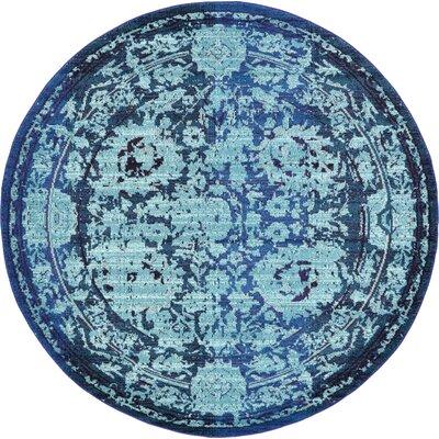 Charleena Blue Area Rug Rug Size: Round 8