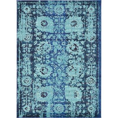 Yannis Blue Area Rug Rug Size: Rectangle 7' x 10'
