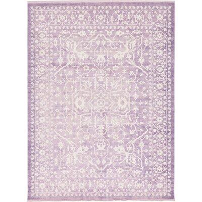 Bryant Purple /Ivory Area Rug Rug Size: Rectangle 10 x 13