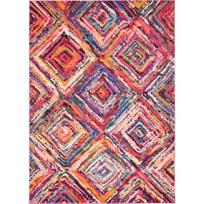 Killington Pink Area Rug Rug Size: 7 x 10