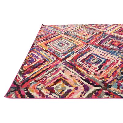 Killington Pink Area Rug Rug Size: Rectangle 9 x 12