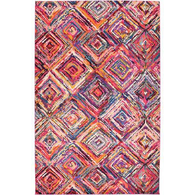 Killington Pink Area Rug Rug Size: 106 x 165