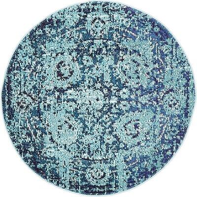 Barret Blue Area Rug Rug Size: Round 33