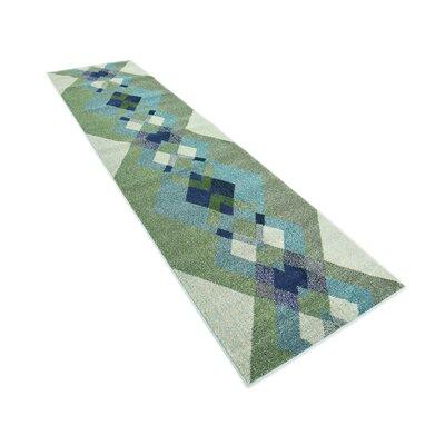 Fujii Green Area Rug Rug Size: Runner 27 x 10