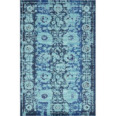 Yannis Blue Area Rug Rug Size: 106 x 165