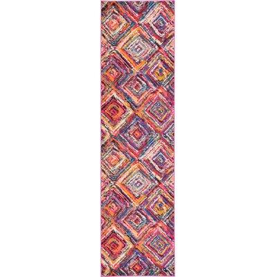 Killington Pink Area Rug Rug Size: Runner 27 x 10