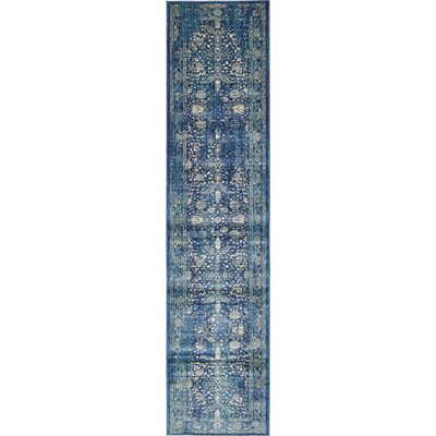 Jae Navy Blue Indoor Area Rug Rug Size: Runner 3 x 13