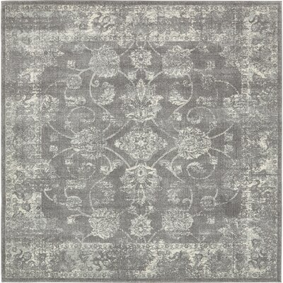 Akerlund Dark Gray Area Rug Rug Size: Square 84