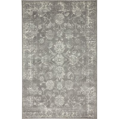 Akerlund Dark Gray Area Rug Rug Size: Rectangle 5 x 8