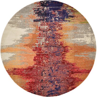 Ned Orange Abstract Area Rug Rug Size: Rectangle 8 x 11