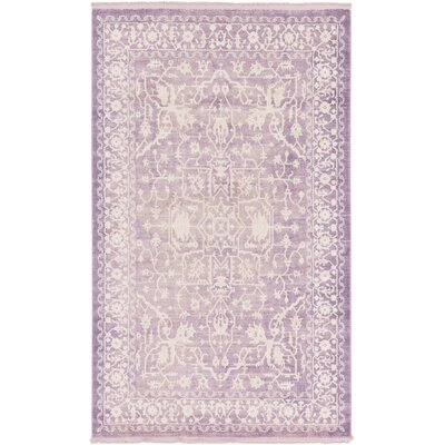 Bryant Purple /Ivory Area Rug Rug Size: Rectangle 5 x 8