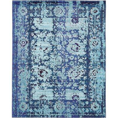 Yannis Blue Area Rug Rug Size: 8 x 10