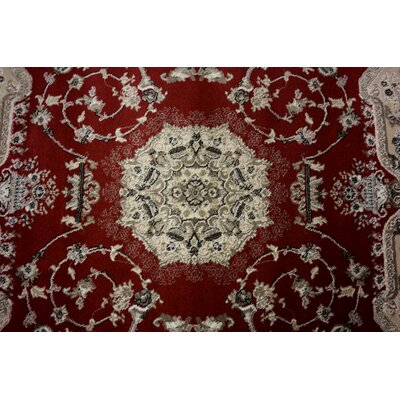 Layton Red Area Rug Rug Size: Square 4