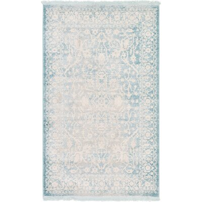 Bryant Oriental Light Blue Area Rug Rug Size: 33 x 53