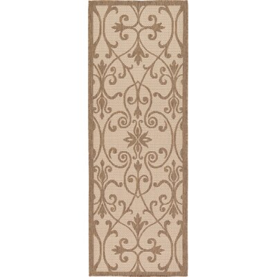 Gerald Brown Outdoor Area Rug Rug Size: Runner 22 x 6