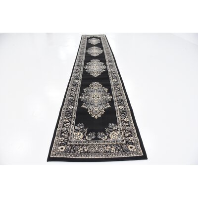 Britain Black Area Rug Rug Size: Runner 3 x 165