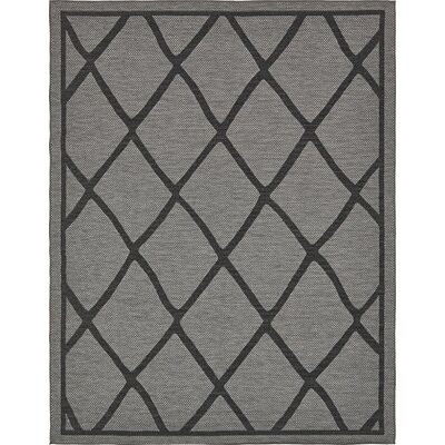 Bradley Gray Outdoor Area Rug Rug Size: 9 x 12