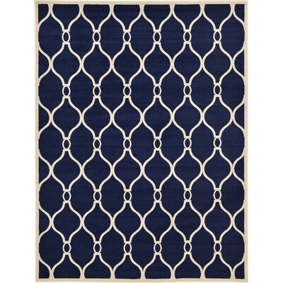 Molly Navy Blue Area Rug Rug Size: Round 8